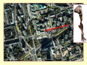 Współczesne zdjęcie satelitarne miejsca znalezienia słonia leśnego