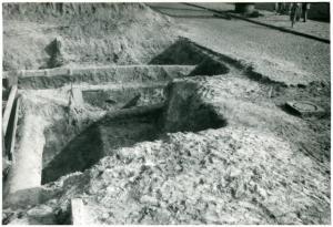 Wykop badawczy, ul. Leszno w Warszawie, 1962
